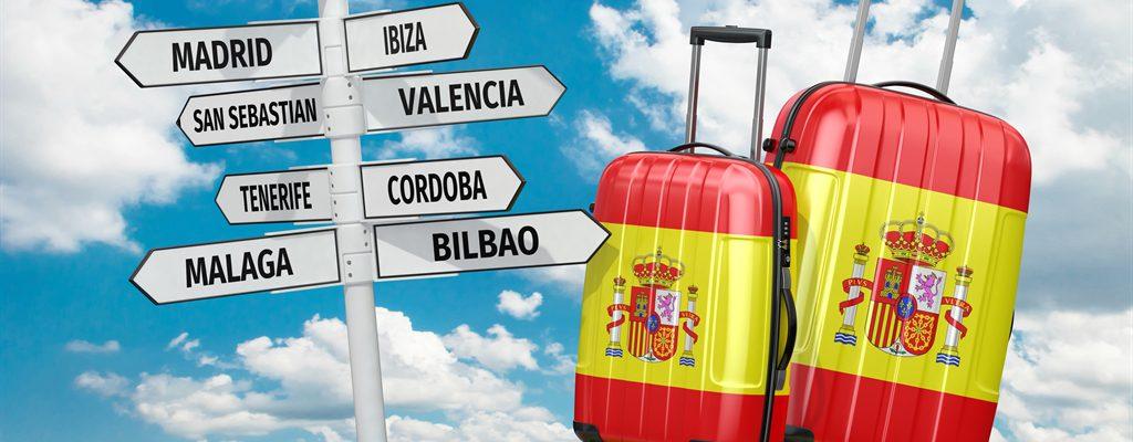 in Spagna con la famiglia